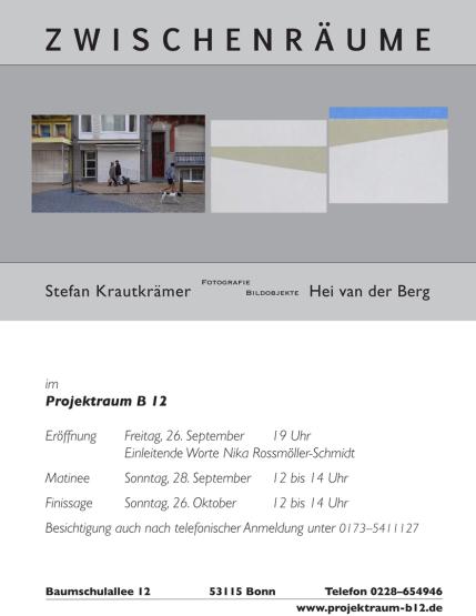 Weingarz Bonn projektraum b12 rossmoeller schmidt bonn ausstellungen im b12
